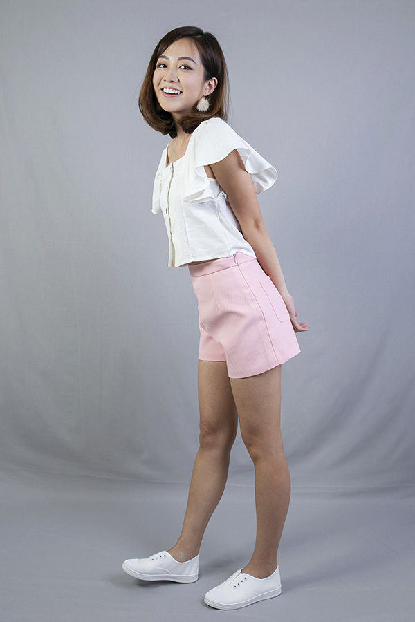 NAY FRONT POCKETS SHORTS (PINK)