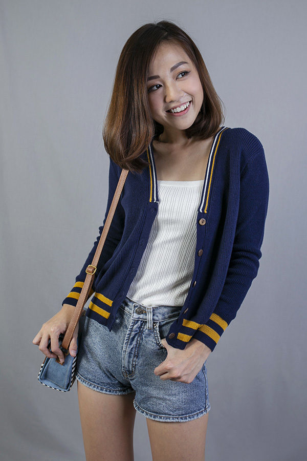 BRUEE COLLEGE CARDIGAN (BLUE)