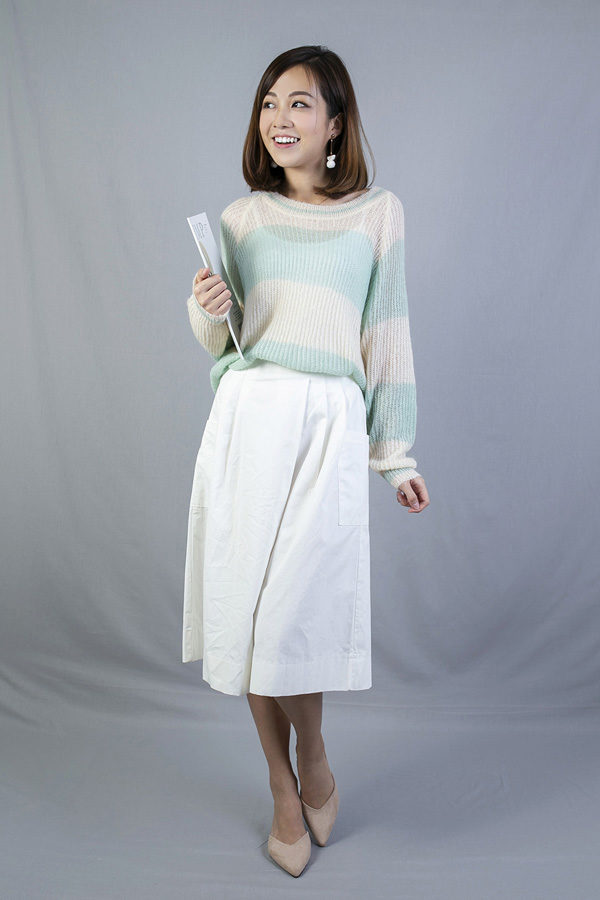 SOFIA LOOSE FIT KNIT PULLOVER (TURQUOISE)