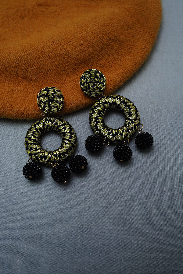 NUSSY BOHEMIAN SPRIRAL EARRINGS