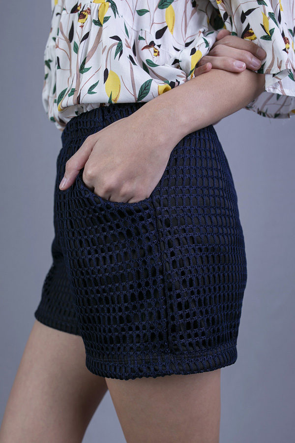 PANMY EYELET SHORTS (BLUE)