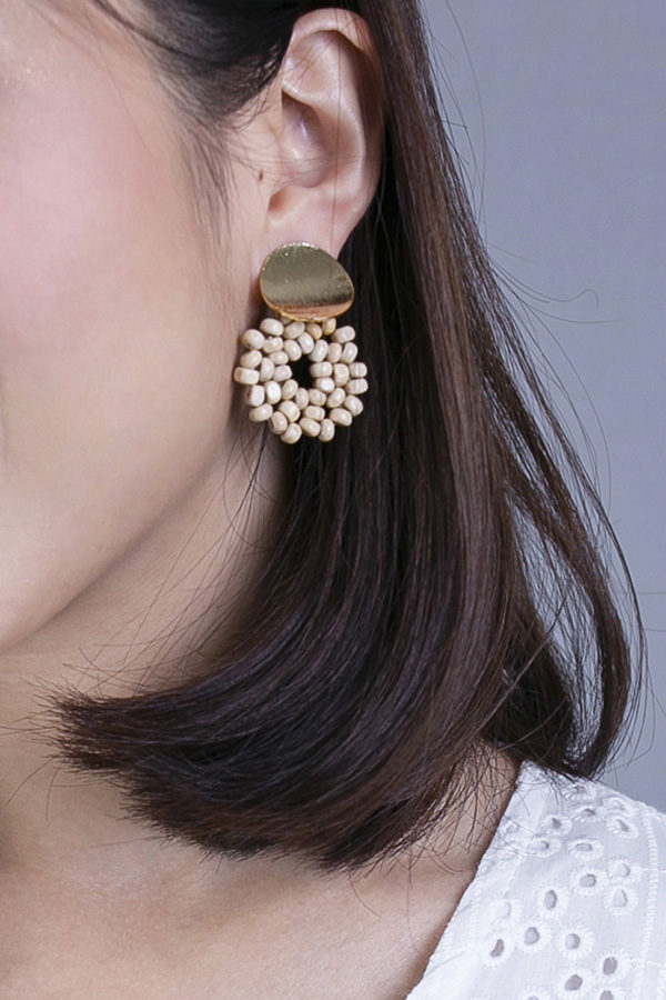 RAFFIXIA BEADS LOOP EARRINGS