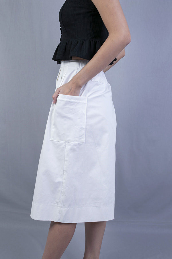 CHAZ SIDE POCKETS CULOTTES (WHITE)